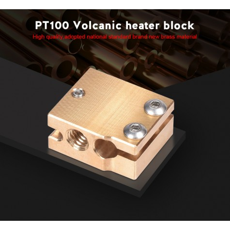 High Quality PT100 Volcano Heater Block Brass Silicone Sock