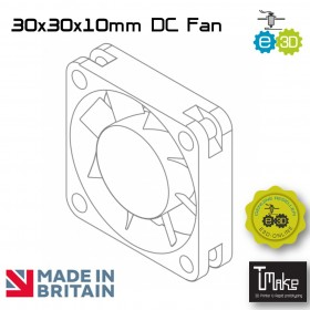 E3D 30x30x10mm DC Fan