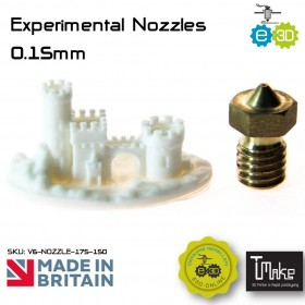 E3D Experimental Nozzles 0.15mm for 1.75mm Filament