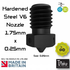 E3D Hardened Steel V6 Nozzle - 1.75mm x 0.25mm
