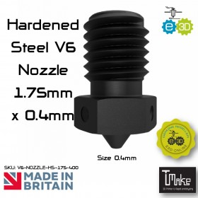 E3D Hardened Steel V6 Nozzle - 1.75mm x 0.40mm