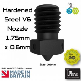 E3D Hardened Steel V6 Nozzle - 1.75mm x 0.60mm