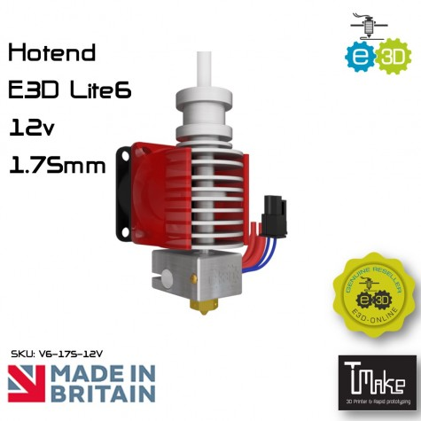 E3D Lite6 HotEnd 1.75mm 12V Universal with Bowden add-on
