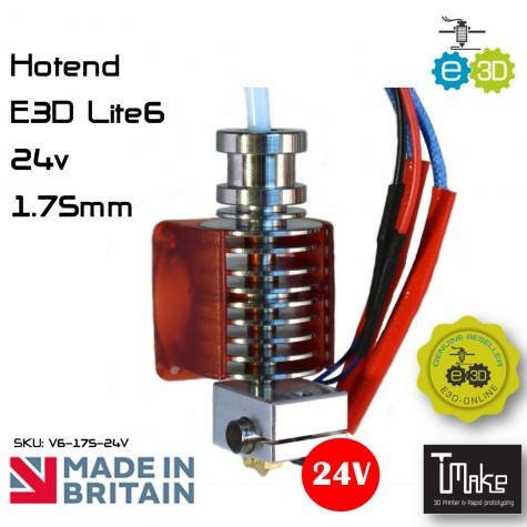 E3D Lite6 HotEnd 1.75mm 24V Universal with Bowden add-on