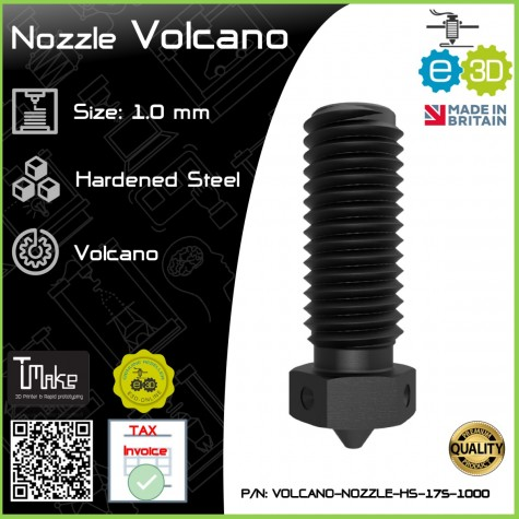 E3D Nozzle Volcano Hardened Steel 1.75mm x 1.0mm