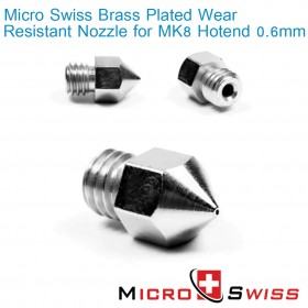 MK8 Plated Wear Resistant Nozzle - 0.6mm