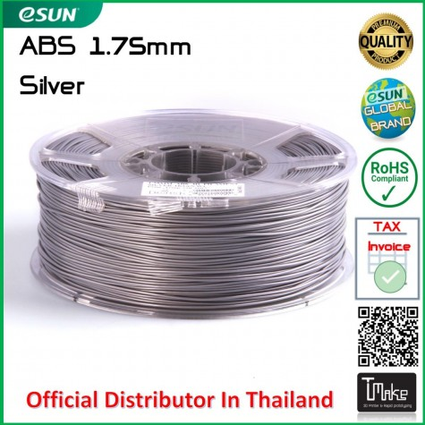 eSUN ABS Filament Silver 1.75 mm.