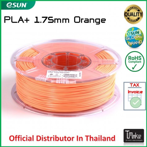 eSUN PLA+ Filament Orange 1.75 mm.