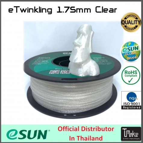 eSUN PLA Filament Clear 1.75 mm.